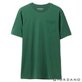 【GIORDANO】男裝素色寬版圓領口袋T恤-50 獵裝綠