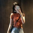 短袖t恤女ins潮網紅2021春夏季新款韓版修身顯瘦體恤純色純棉 快速出貨