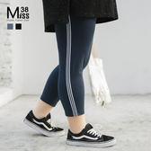 Miss38-(現貨)【A03165】大尺碼內搭褲 七分褲 百搭熱銷 純棉彈力 休閒薄款 打底褲 -大尺碼女裝