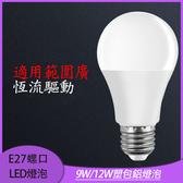E27螺口110V燈泡 國際標準LED塑包鋁家庭照明高恆亮寬壓球燈泡9W/12W
