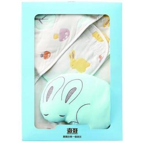 【奇哥】快樂森林六層紗包巾禮盒(含包巾、小肚圍、小兔枕)