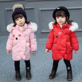 冬季女童羽绒服 女童棉衣中長款冬裝3兒童加厚棉襖寶寶冬季保暖 俏女孩