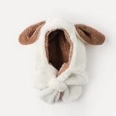 兒童帽子男護耳帽男童女童帽秋冬季圍巾圍脖一體帽
