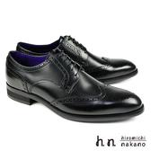 【hiromichi nakano】翼紋雕花紳士鞋 黑色(H408-BL)