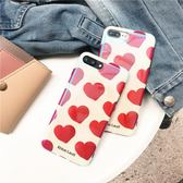 網紅同款藍光愛心iphone6/8/X手機殼7plus蘋果6s硅膠創意防摔女款【全館免運八折下殺】