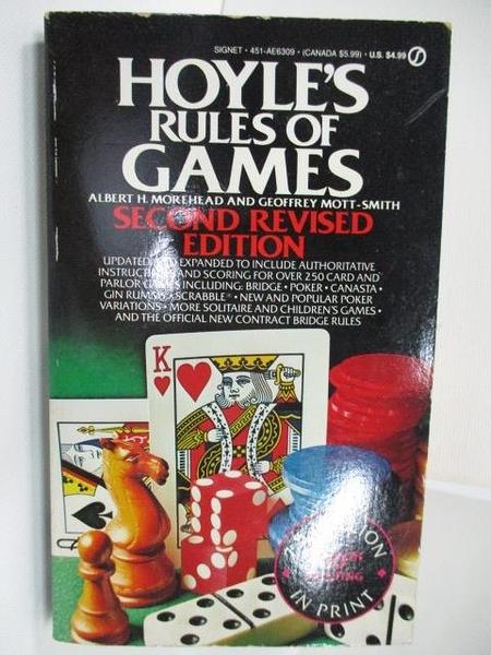 【書寶二手書T3/原文小說_AG5】Hoyle s Rules of Games_Albert H. Morehead