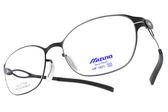 MIZUNO 美津濃 光學眼鏡 MF1601 C05 (黑) 輕巧簡約款 β鈦眼鏡 # 金橘眼鏡