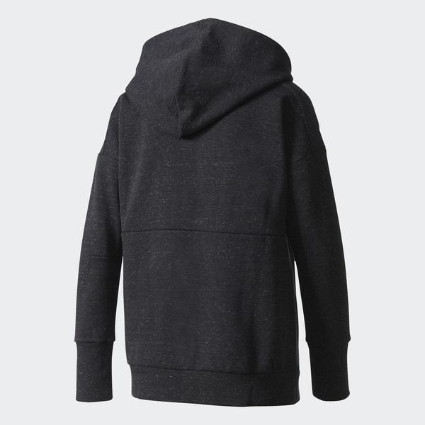 ADIDAS ATHLETICS STADIUM 女裝 外套 連帽 棉質 拉鍊口袋 休閒 黑【運動世界】BP7066