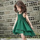 女童連身裙洋氣裙子吊帶裙