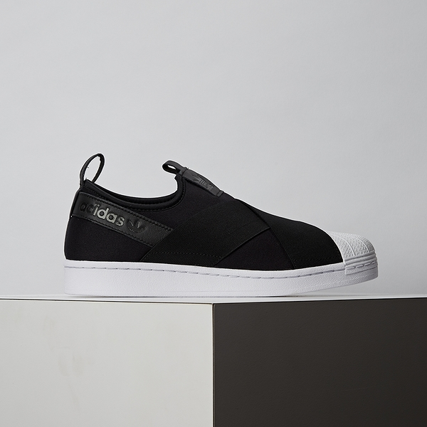 Adidas Superstar Slip On 男女鞋 黑白 繃帶 襪套式 經典鞋 休閒 FW7051