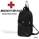 黑色機能胸包/斜背包  AMINAH~【BODYSAC B1804】