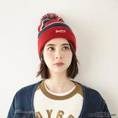 STAYREAL 條紋毛球帽