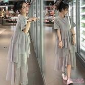孕婦裝 孕婦夏裝連衣裙上衣t恤正韓2020新款時尚套裝孕婦裝夏天裙子春裝洋裝