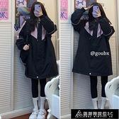 夾克外套 中長款拼色夾克棉衣外套女2021年秋冬季新款韓版寬松百搭棉服上衣 快速出貨