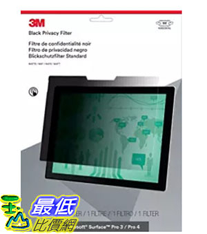 [美國直購] 3M PFTMS001 螢幕防窺片 Privacy Filter for Microsoft Surface Pro 3 / Pro 4 - Landscape _II4