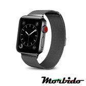 Morbido蒙彼多Apple Watch 38mm米蘭式磁吸不鏽鋼錶帶(黑色)