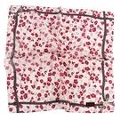 CLATHAS花卉圖案純綿帕領巾(紅色)989265-14