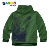 JAKO-O德國野酷-立領長袖棉T-森林綠