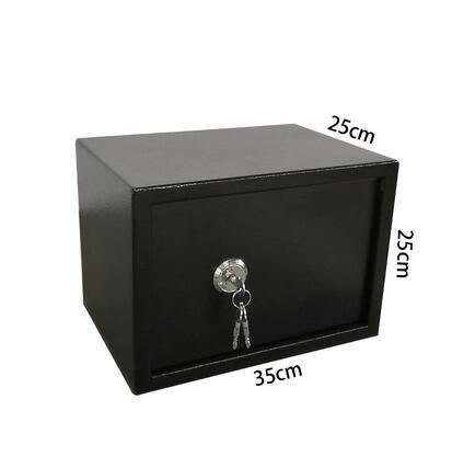全鋼老人保險箱辦公家用小型鑰匙防盜櫃機械床頭手機首飾保管箱 DR21938【Rose中大尺碼】