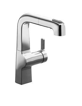 【麗室衛浴】美國 KOHLER Evoke® 伸縮廚房龍頭 K- 6332T-B4-CP(鉻)