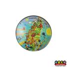 【收藏天地】台灣紀念品*水晶玻璃球冰箱貼-台灣地圖