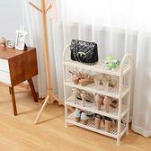 日式塑料鞋架經濟型簡易多層宿舍寢室鞋子收納架現代簡約家用鞋櫃CY『小淇嚴選』