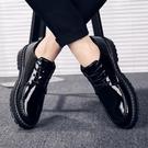 皮鞋 春季皮鞋男韓版潮流英倫加絨休閒男鞋青少年正裝百搭黑色小皮鞋【快速出貨八折下殺】