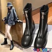 短靴 網紅馬丁靴煙筒切爾西靴中筒機車靴潮2021秋冬新款英倫短靴女 寶貝計畫