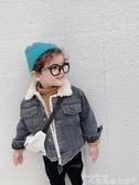 兒童牛仔外套男童加絨牛仔外套洋氣寶寶冬裝羊羔絨夾克兒童秋冬上衣韓版潮2020 新品