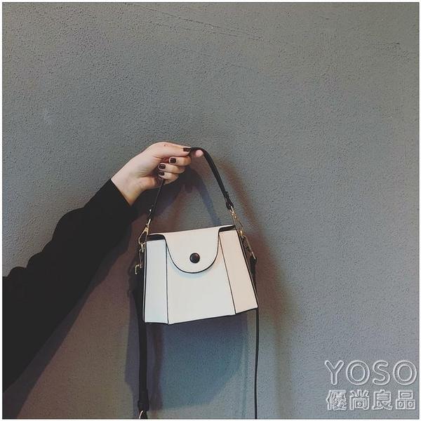 法國小眾高級感包包女新款潮小ck百搭上新斜挎水桶包小包 快速出貨