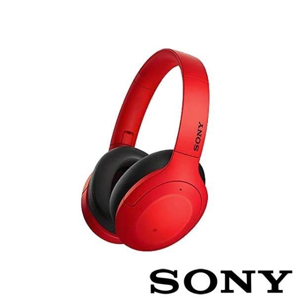 【南紡購物中心】SONY WH-H910N 無線藍牙降噪耳機-紅色