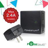 FONESTUFF 5V/2.4A雙USB方塊插座充電頭-黑