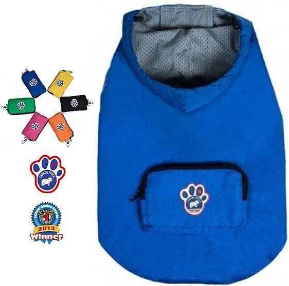 Pet's Talk~加拿大Canada Pooch超輕量防水風衣-藍色