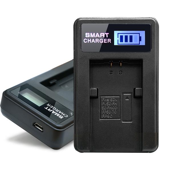 YHO 單槽 液晶顯示充電器(Micro輸入) for SONY FV50,FV70,FV100 FH50,FH70,FH100,FP70,FP90