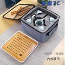 台灣24小時現貨土城 便攜旅行新款套裝功夫茶具整套家用簡約茶杯茶壺旅遊陶瓷茶盤定制LOGO