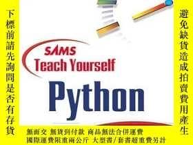 二手書博民逛書店Sams罕見Teach Yourself Python In 24 Hours (teach Yourself -