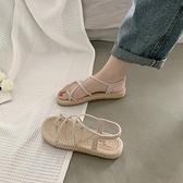 涼鞋女仙女風2021新款夏季時尚百搭網紅綁帶羅馬涼拖ins潮平底鞋 【端午節特惠】