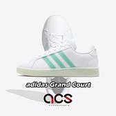 adidas 休閒鞋 Grand Court 白 綠 女鞋 運動鞋 【ACS】 FW5901