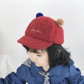 嬰兒帽子可愛5-10個月寶寶帽子1歲兒童保暖棒球帽秋冬2歲鴨舌帽女