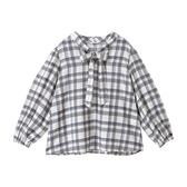 東京著衣-夢展望-蝴蝶結領澎袖嫘縈長袖襯衫-M.L(4190109)