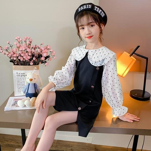 女童秋裝洋裝2020新款洋氣韓版中大兒童小香風公主裙長袖裙子潮 Cocoa