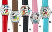 【卡漫城】 出清特價 米奇 皮革 卡通錶 四款選一 ㊣版 大錶面 Mickey 米老鼠 兒童表 手錶 女錶 米妮