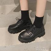 牛津鞋jk小皮鞋基礎款黑色 秋季新款百搭加絨厚底英倫風女鞋ins潮鞋 新年特惠