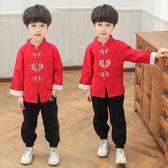 漢服男童中國風兒童古裝幼兒過年新年裝夏古風唐裝寶寶拜年服 KV5778【歐爸生活館】