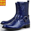 馬丁靴子真皮中筒-休閒創意簡約熱賣男鞋子5s5【巴黎精品】