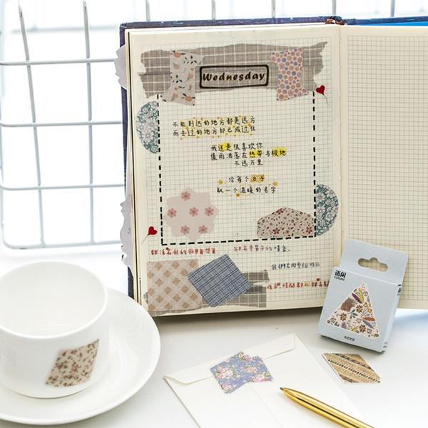 【BlueCat】布藝生活盒裝貼紙 封口貼紙 (50入)