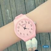 兒童手錶兒童手錶女孩 學生潮流韓版簡約男士防水運動糖果色果凍情侶手錶