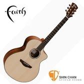 吉他►Faith英國名牌 FNCE TB可插電 全單板民謠吉他 【木吉他/印尼廠/附Faith吉他硬盒】