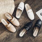 涼鞋.MIT氣質方頭簡約金屬線條涼拖鞋.白鳥麗子