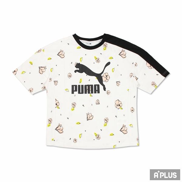 PUMA 女 流行系列Floral印花短袖T恤(F) 花瓣 塗鴉-53204302
